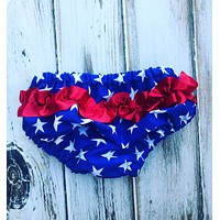 Red White and Blue Ruffle Bloomers