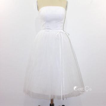 Audrey Wedding Tulle Dress - Tea Length (assorted colors)