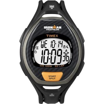 Timex Ironman 50 Lap Men's Digital Watch Black-Orange [T5K335]