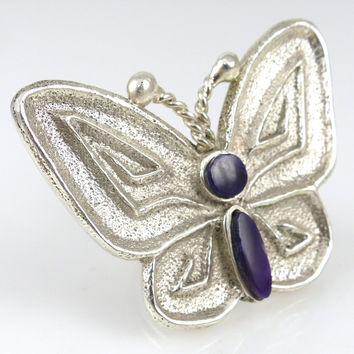 Sugilite Butterfly Ring