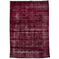 "Antique Overdyed Raspberry Rug - 10'6"" x 7'5"""