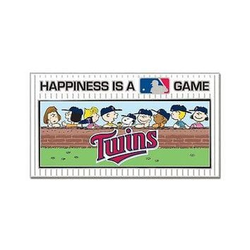 MINNESOTA TWINS PEANUTS GANG HAPPINESS IS A GAME COLLECTOR PIN NEW WINCRAFT