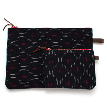 Midnight Japanese Ikat Carryall