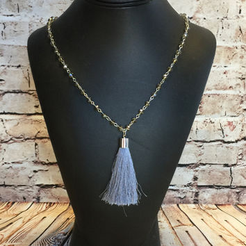 Prized Possession Necklace: Grey