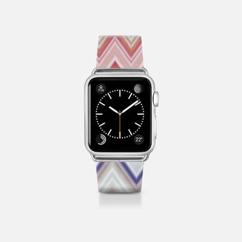 COLORFUL CHEVRON IN PINK - APPLE WATCH BAND Apple Watch Band (38mm) by Nika Martinez | Casetify