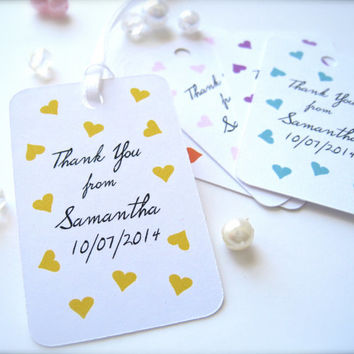 Mini bridal shower tags, personalized tags,thank you tags, party favor tags - 30 count