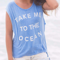 Take Me To The Ocean Baby Blue Graphic Tee
