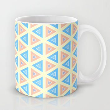 Triangles Mosaic Art Mug by Cinema4design