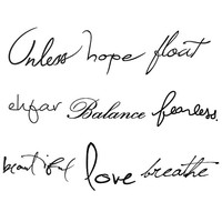 Words Set - Temporary Tattoo Pack (Set of 18)
