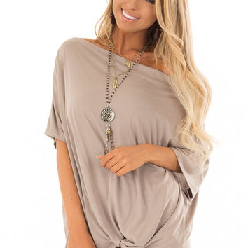 Coco Off the Shoulder Top with Front Twist