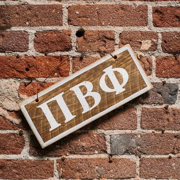 Pi Beta Phi Letters Sign