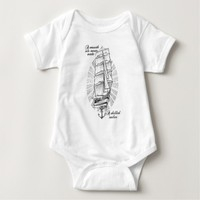 A smooth sea never made a skilled sailor baby bodysuit