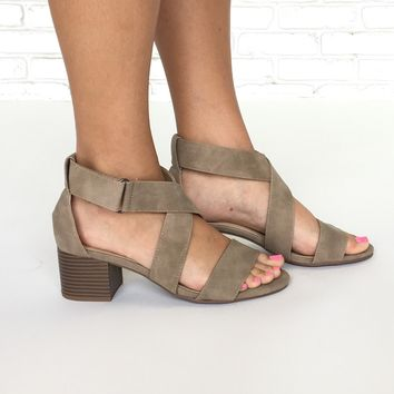 Cross Over Suede Dress Sandals