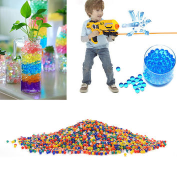 10 Bags Crystal Mud Soil Water Beads Bio Gel Balls Bullet Gun Pistol Toys Water Gun Crystal Soft Bullets hydrogel gel paint ball