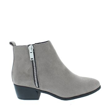 Side Zip Accent Ankle Bootie