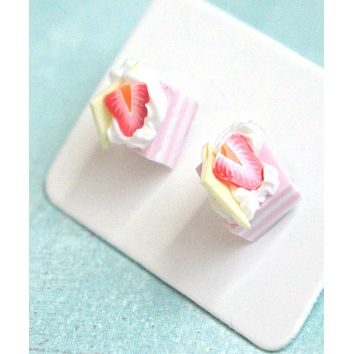 Strawberry Shortcake Stud Earrings