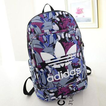 LMFON1O Day First Adidas Fashion Print School Laptop Shoulder Bag Satchel Bookbag Backpack