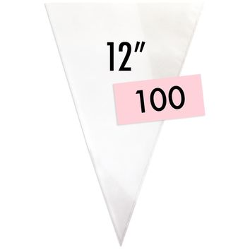 "12"" Disposable Decorating Bags - 100"