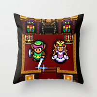 Zelda Link to the Past Sanctuary Throw Pillow by likelikes | Society6
