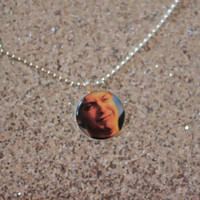 Sobbing Spiderman cameo necklace - Tobey Maguire crying - PIXIE and PIXIER