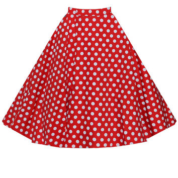Polka Dot A-Line Mini Skater Skirt