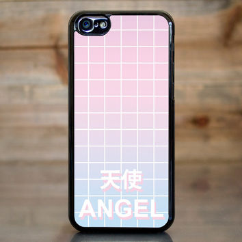 Angel Pastel Aesthetic Grid Case for Apple iPhone 5c