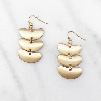 Metal Statement Gold Tone Earrings