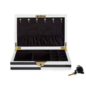 Jonathan Adler Op Art Lacquer Jewelry Box