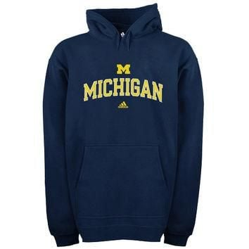 Michigan Wolverines adidas In Play Pullover Hoodie ¨C Navy Blue