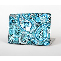 The Vibrant Blue and White Paisley Design  Skin Set for the Apple MacBook Pro 13""