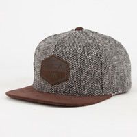 Rvca Laurel Mens Snapback Hat Brown One Size For Men 26745040001
