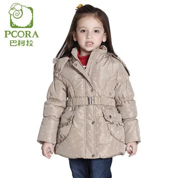 PCORA Girls Winter Jackets Children Clothes Girls Clothes Thick Autumn Winter Outerwear Fashion Keep Warm Coat Kids Girl Clothes