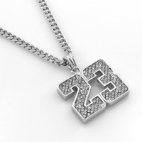 "Hot Celebrity Hip-Hop Silver Tone 23 Jordan Pendant Necklace Free 24"" chain,"