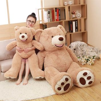Hot 130cm American Giant Bear Plush Toys Big Size USA Teddy Bear Stuffed Animal Doll for Children Girls kids Cute Christmas Gift