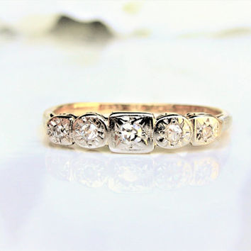 Antique Wedding Band Old Mine Cut Diamond Wedding Ring 18Ct Platinum Edwardian Engagement Ring Diamond Gold Stacking Ring Anniversary Ring