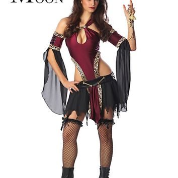 MOONIGHT Adult Cosplay Party Pirates Of The Caribbean Sexy Fancy Clothes Women Sexy Uniform Halloween Costume