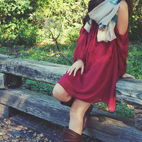 Make You Remember Dress: Maroon