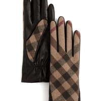 Burberry Wool Check Jenny Gloves | Bloomingdale's
