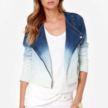 RVCA Shack Up Blue Ombre Denim Jacket