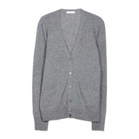 EQUIPMENT Sullivan Cardigan Heather Grey | Cashmere Sweater