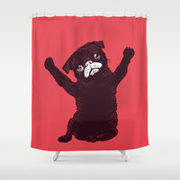 Hug Shower Curtain by Huebucket