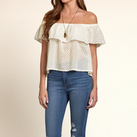 Woodson Mountain Off-The-Shoulder Shirt