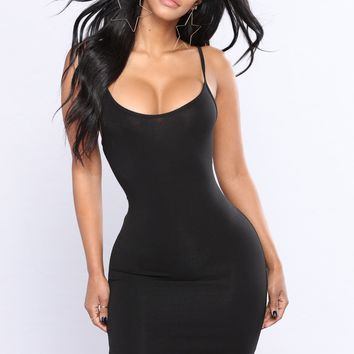 Jane Mini Dress - Black