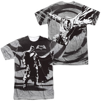 Batman V Superman Batman Contrast Sublimated Mens T-Shirt