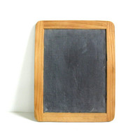 Vintage Childs Small Black Chalkboard Wooden Frame