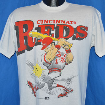 90s Cincinnati Reds Jack Davis Cartoon t-shirt Medium