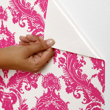 Urban Outfitters - Damsel Wallpaper- Fuchsia