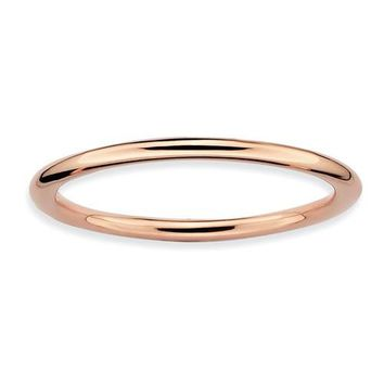 Rose Gold Sterling Silver Stackable Expressions Ring