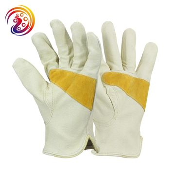 OLSON DEEPAK Pigskin Leather Skid-resistance Drive Gardening Welding Work Gloves HY012 Free Shipping