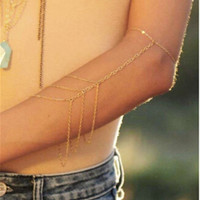 Hot Bohemian Gold Silver Arm Chain, Body Chains, Body Jewelry Accessory, Tribal, Arm Cuff, Upper Arm Bracelet_TP = 1928771588